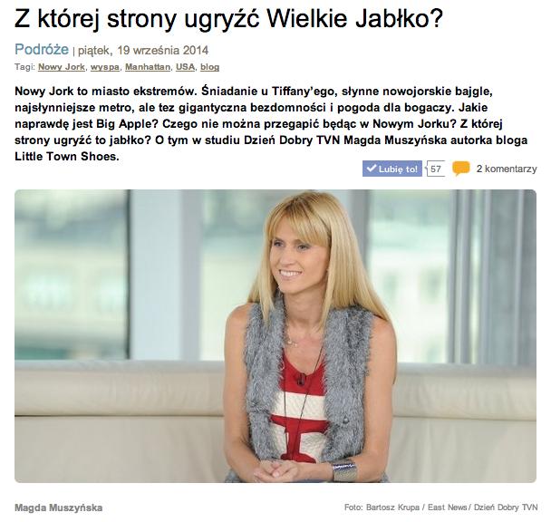 Dzien Dobry TVN Little Town Shoes Magdalena Muszynska