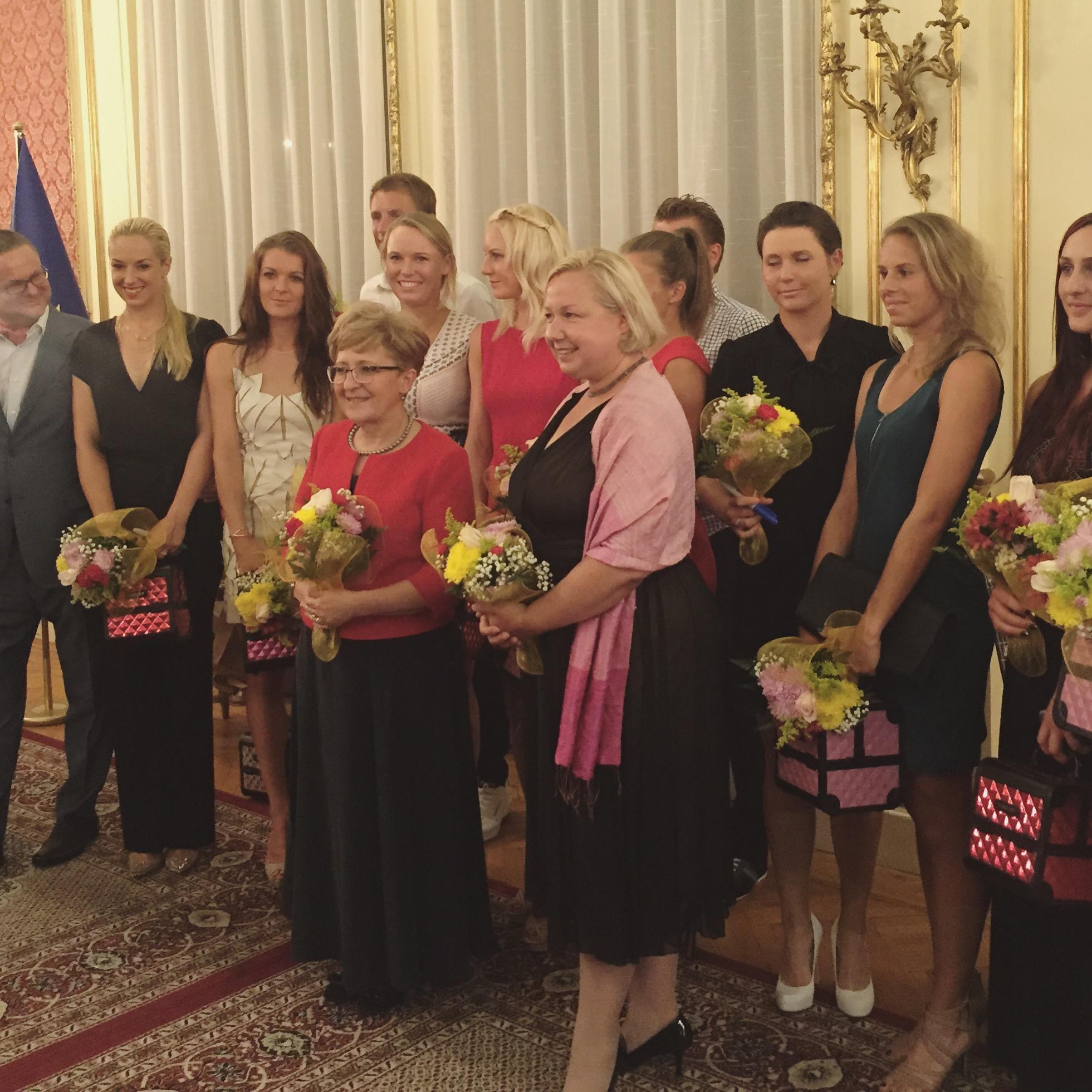 siostry Radwańskie – Agnieszka i Urszula i Caroline Wozniacki