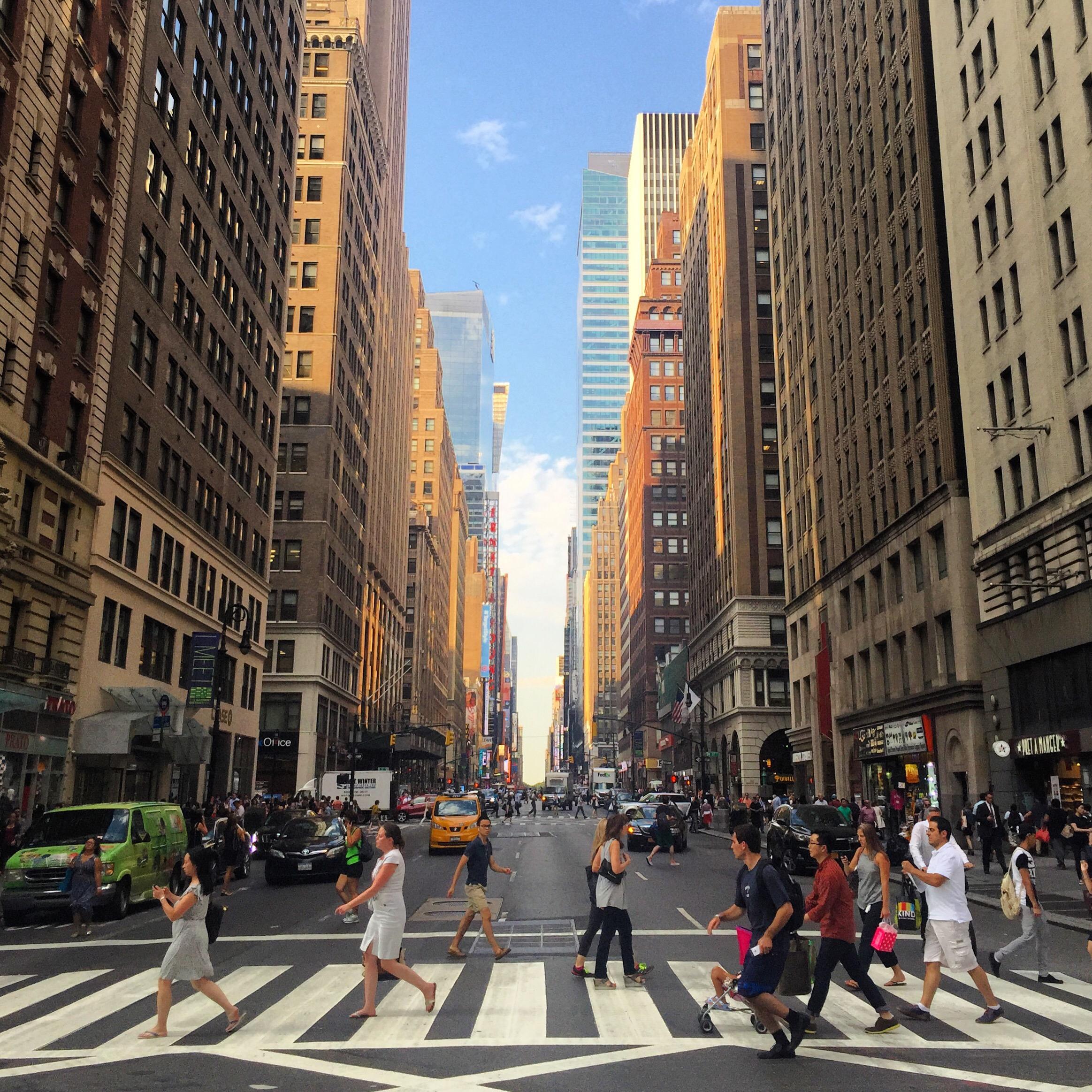 dzień w Nowym Jorku